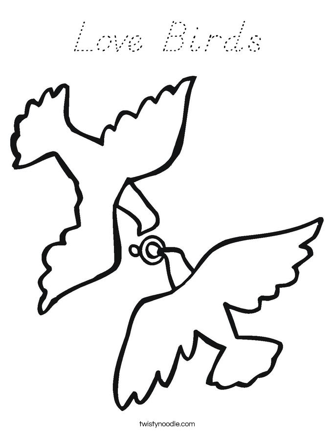 Love Bird Outline
