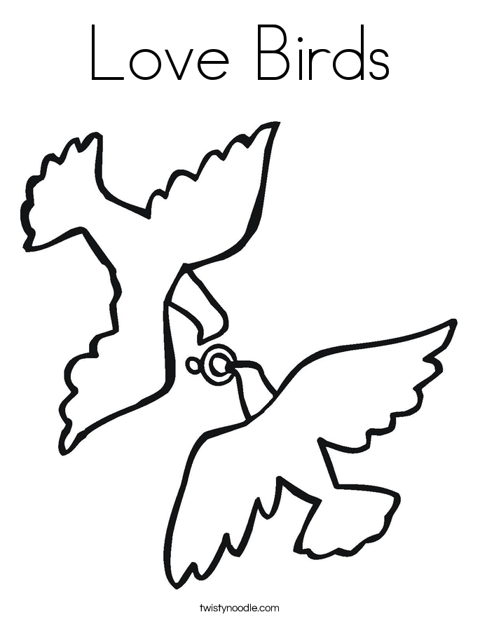 Love Birds Coloring Page