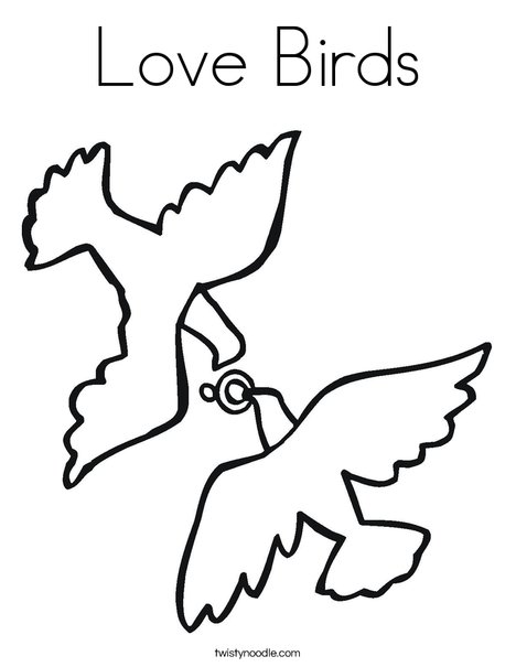 coloring pages love birds - photo#12