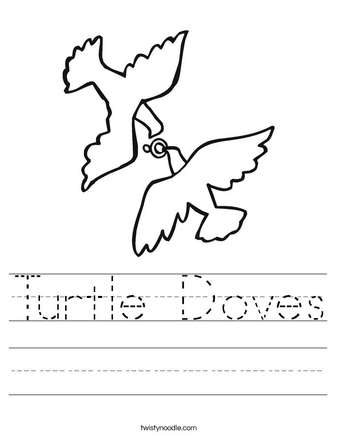Turtle Doves Worksheet