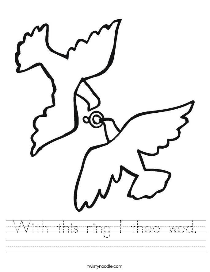 With this ring I thee wed. Worksheet