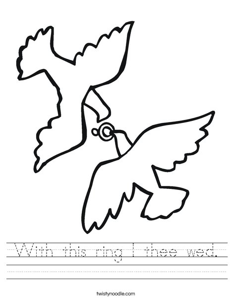 Love Birds and Ring Worksheet