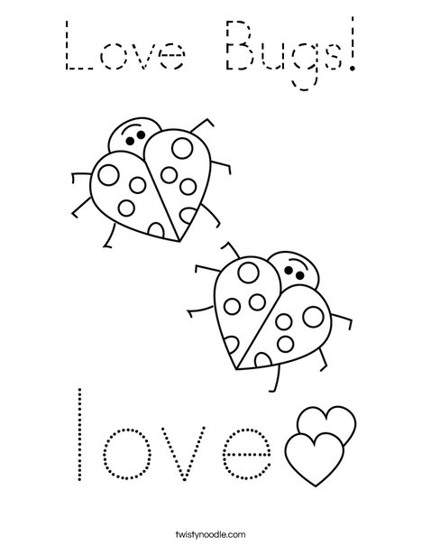 Love Bugs! Coloring Page
