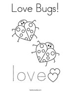 Love Bugs Coloring Page