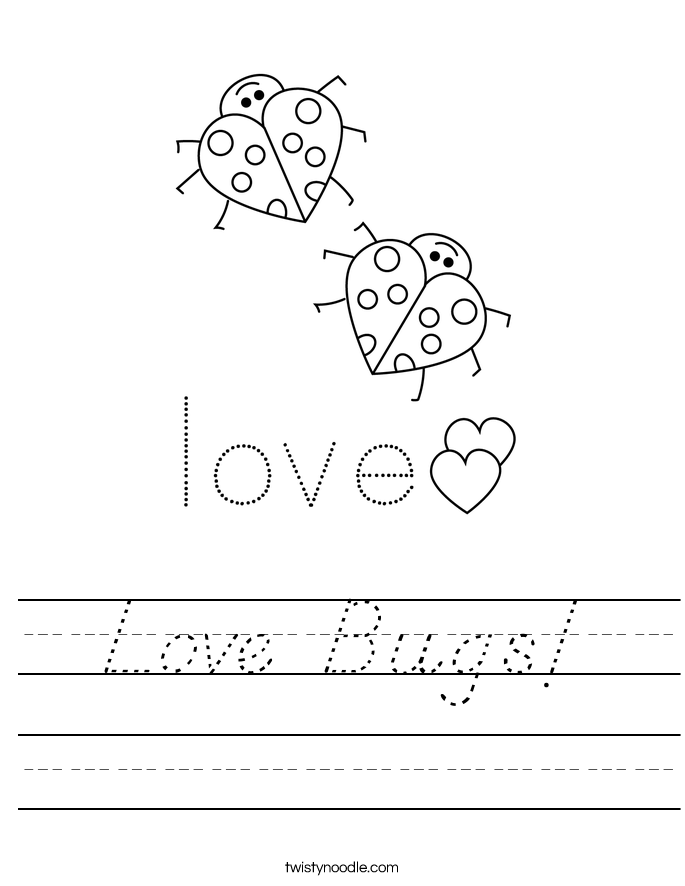 Love Bugs! Worksheet