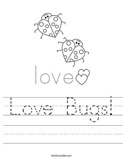Love Bugs! Worksheet