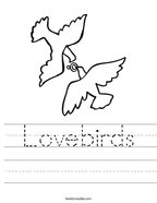 Lovebirds Handwriting Sheet