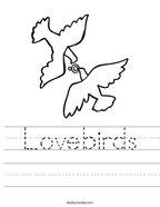 Lovebirds Handwriting Sheet