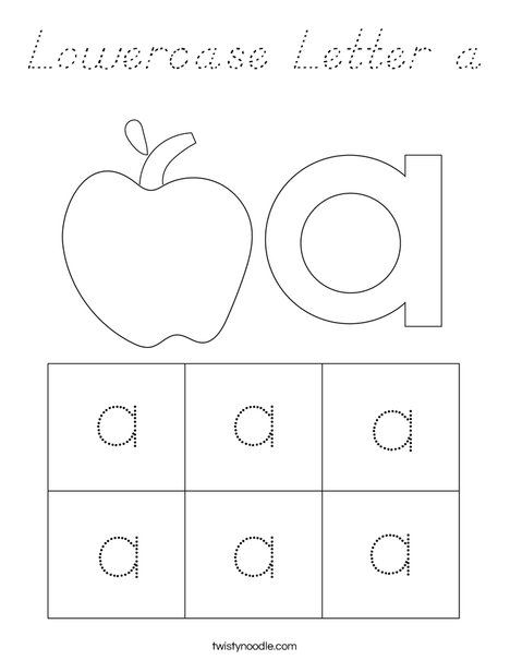 Lowercase Letter a Coloring Page