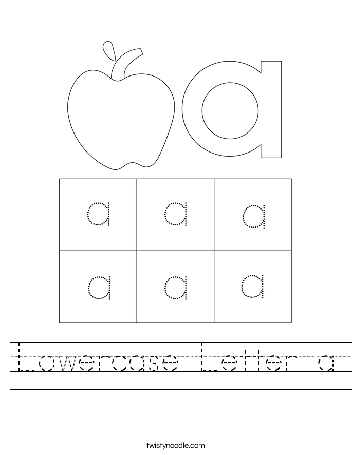 Lowercase Letter a Worksheet