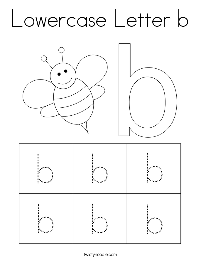 Lowercase Letter b Coloring Page