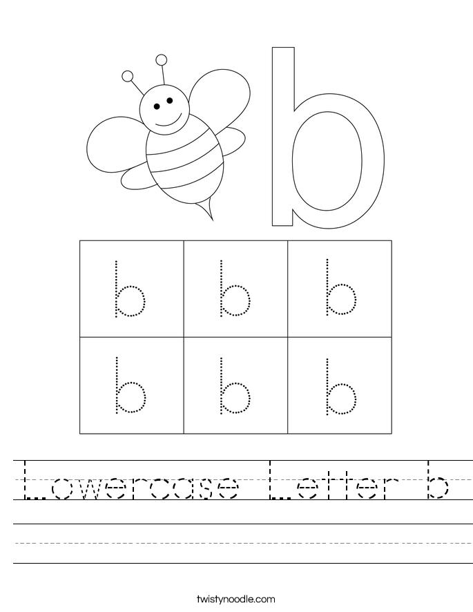 Lowercase Letter b Worksheet