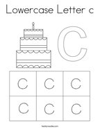 Lowercase Letter c Coloring Page