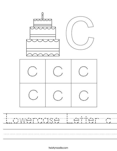 Lowercase Letter c Worksheet