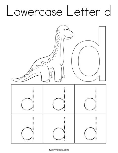 Lowercase Letter d Coloring Page