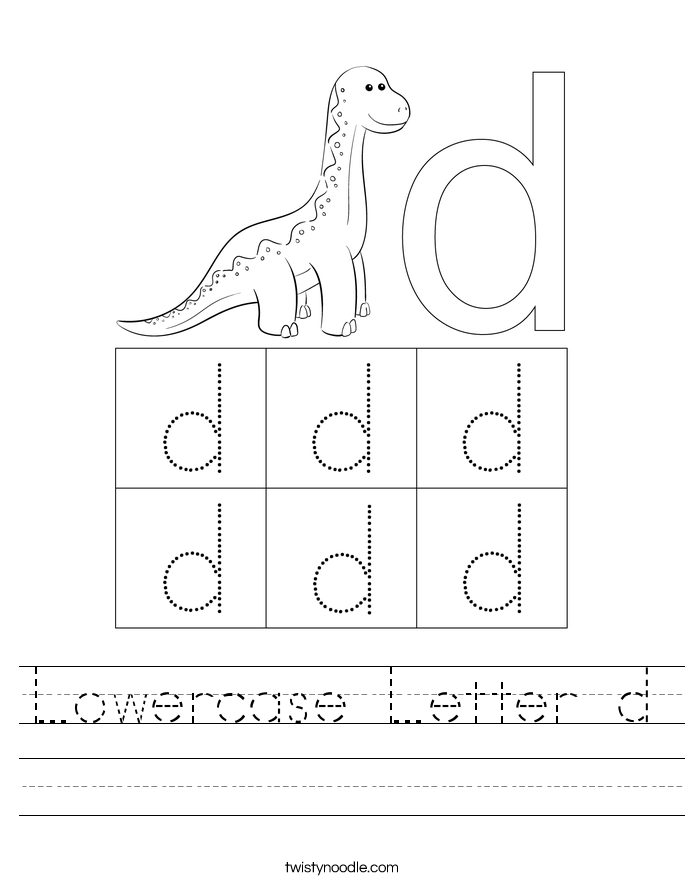Lowercase Letter d Worksheet