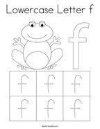 Lowercase Letter f Coloring Page