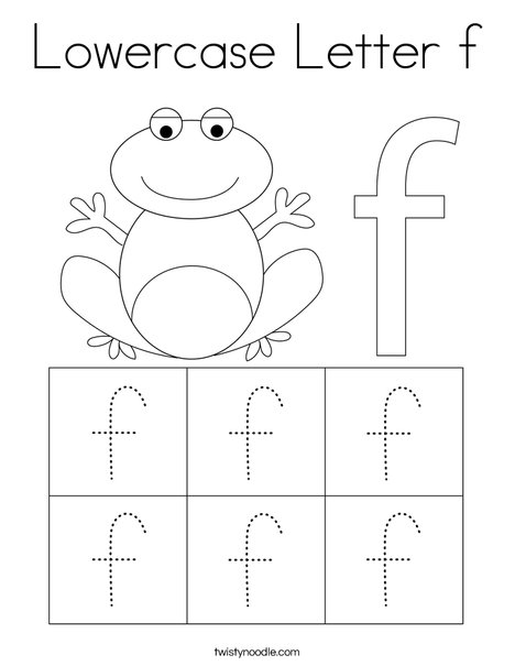 Lowercase Letter F Coloring Page - Twisty Noodle