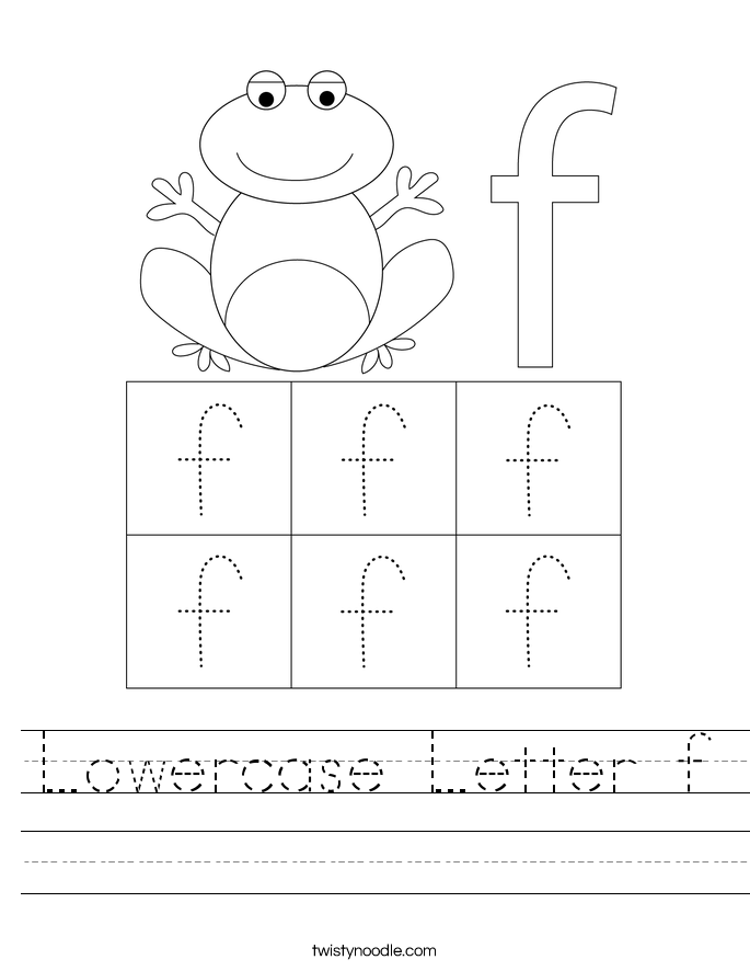 Lowercase Letter f Worksheet