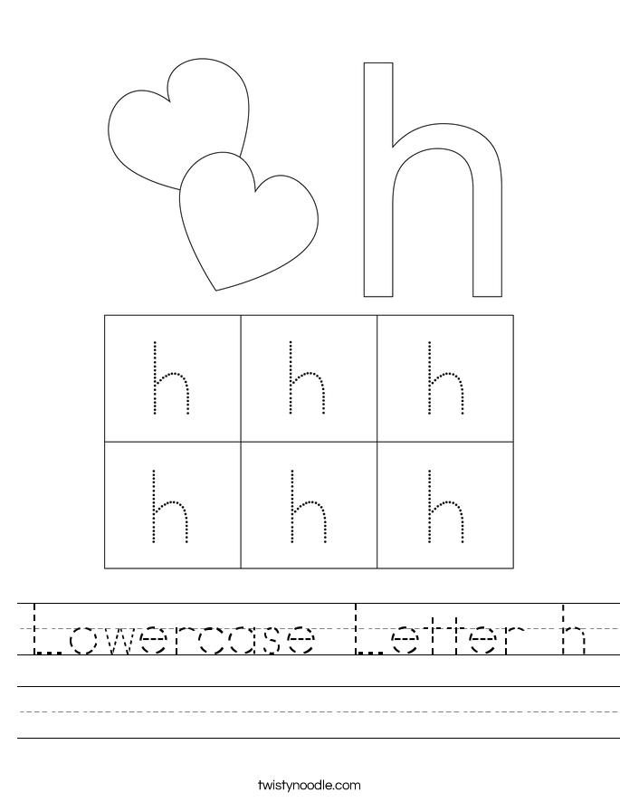Lowercase Letter h Worksheet