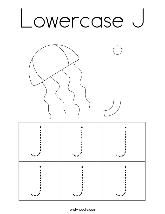 Lowercase J Coloring Page