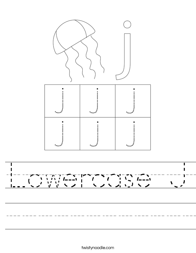Lowercase J Worksheet