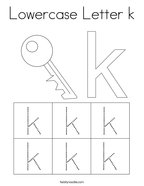 Lowercase Letter k Coloring Page