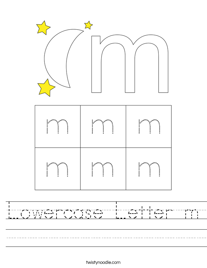 Lowercase Letter m Worksheet