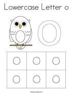 Lowercase Letter o Coloring Page