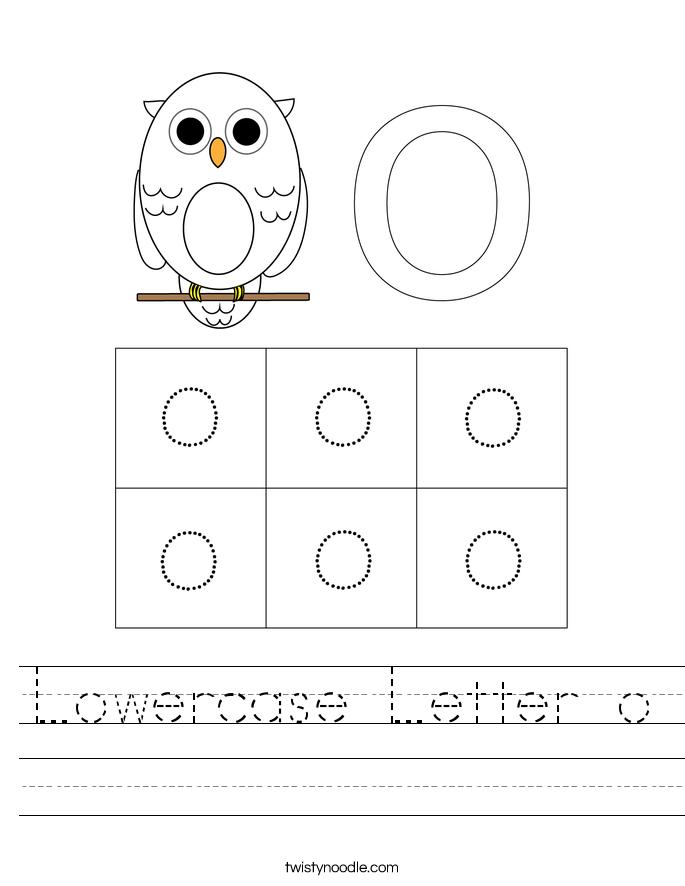 Lowercase Letter o Worksheet
