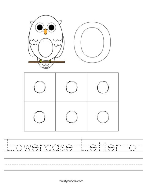 Lowercase Letter o Worksheet
