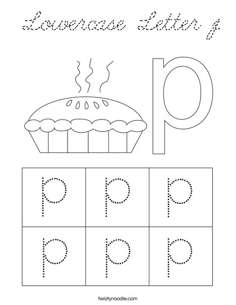 Lowercase Letter p Coloring Page