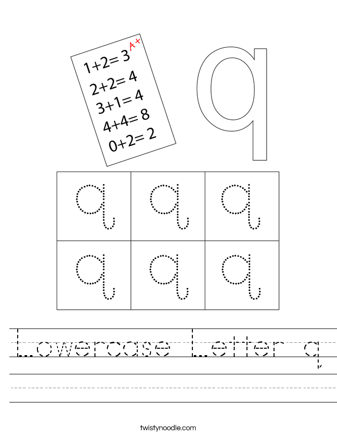 Lowercase Letter q Worksheet
