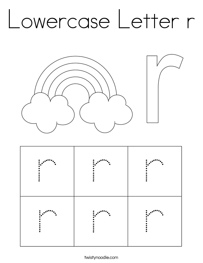 Lowercase Letter r Coloring Page - Twisty Noodle
