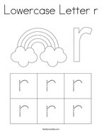 Lowercase Letter r Coloring Page