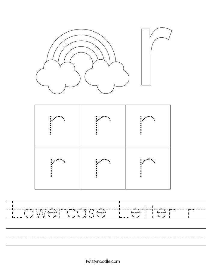 Lowercase Letter r Worksheet