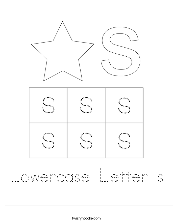 Lowercase Letter s Worksheet