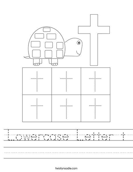 Lowercase Letter t Worksheet