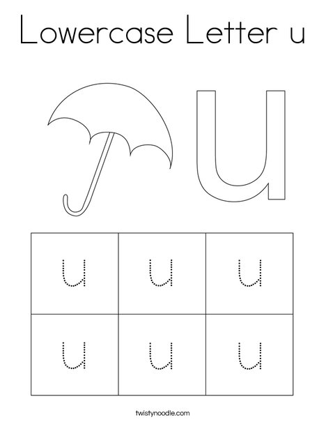 Lowercase Letter u Coloring Page