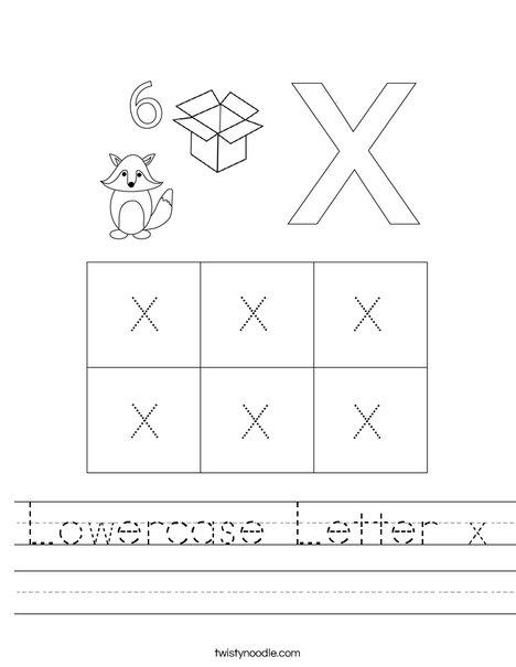 Lowercase Letter x Worksheet