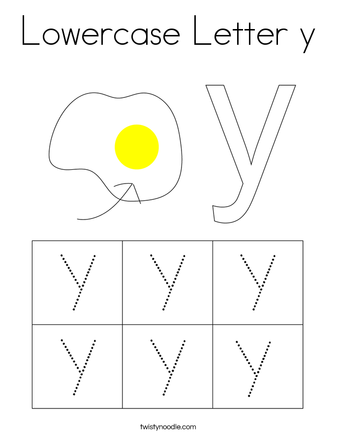 Lowercase Letter y Coloring Page