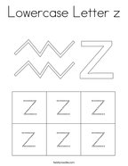 Lowercase Letter z Coloring Page