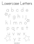 Lowercase Letters Coloring Page