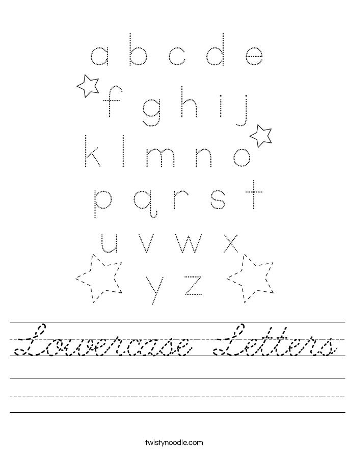 Lowercase Letters Worksheet