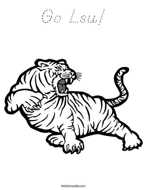 LSU Tiger Coloring Page