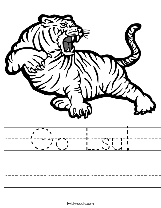 Go Lsu! Worksheet