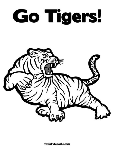 detroit tiger coloring pages - photo#8