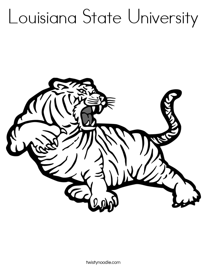 Louisiana State University Coloring Page