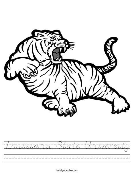 LSU Tiger Worksheet
