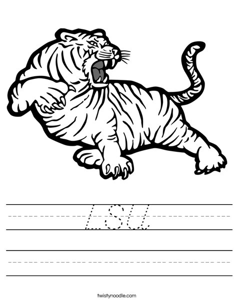 LSU Tiger Worksheet